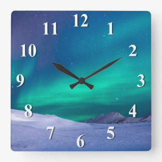 Aurora Northern Lights Clocks
