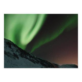 Aurora Northern Lights Norway 14 Cm X 19 Cm Invitation Card