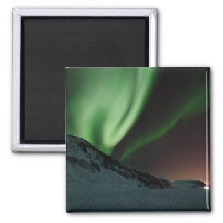 Aurora Northern Lights Norway Square Magnet