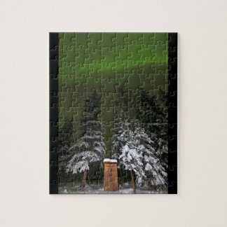 Aurora Over the Outhouse Jigsaw Puzzle
