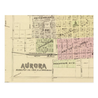 Aurora, Phillips, an Hampton, Nebraska Postcard