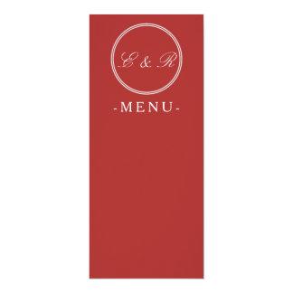 Aurora Red with White Wedding Detail 10 Cm X 24 Cm Invitation Card