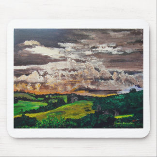 Aurora Valley Painting Mouse Pad