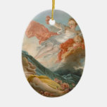 Aurore by Jean-Honore Fragonard Ceramic Oval Decoration