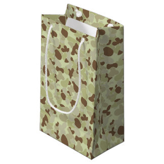 Auscam desert camouflage small gift bag