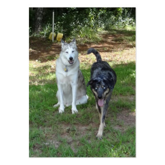 Ausky Dog and Catahoula Leopard Dog Friends Business Cards