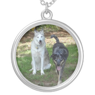 Ausky Dog and Catahoula Leopard Dog Friends Necklaces