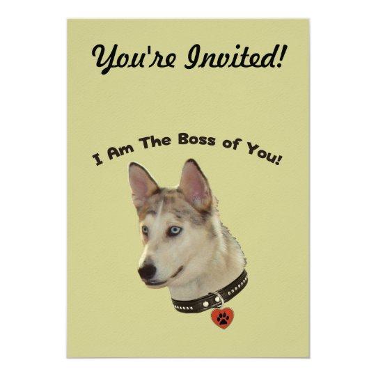 Ausky Dog Boss of You Card