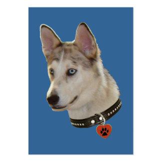 Ausky Dog Pawprint Heart Business Card Templates