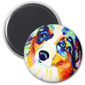 Aussie #3 6 cm round magnet