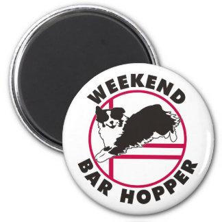 Aussie Agility Weekend Bar Hopper 6 Cm Round Magnet