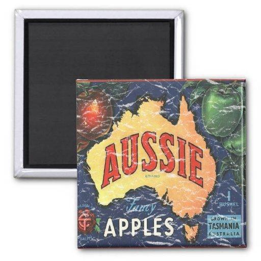 Aussie Apples- distressed Magnet