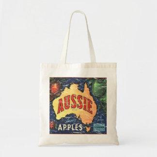 Aussie Apples- distressed Tote Bag