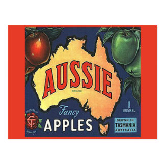 Aussie Apples Postcard