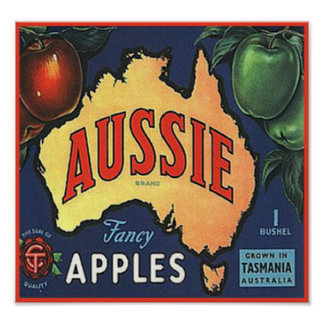 Aussie Apples Poster