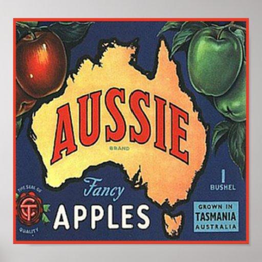 Aussie Apples Print