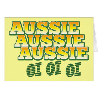 Aussie Aussie Aussie oi oi oi Card