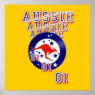 Aussie Aussie Aussie Oi Oi Oi Print
