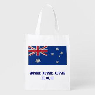 Aussie Aussie Aussie Oi Oi Oi Reusable Grocery Bags