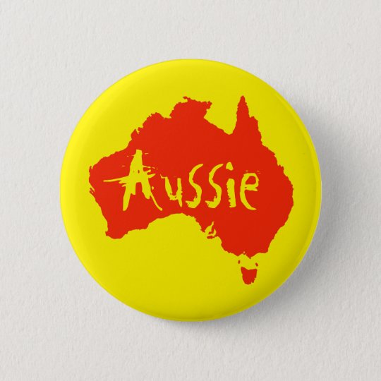 Aussie Australian Button Pin