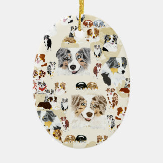 Aussie Collage Christmas Ornament