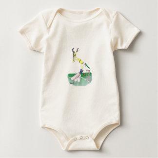 aussie cricketer opening bat, tony fernandes baby bodysuit