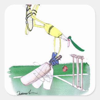 aussie cricketer opening bat, tony fernandes square sticker