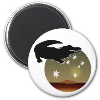 Aussie Croc Icon Magnet