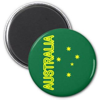 Aussie Cross 6 Cm Round Magnet
