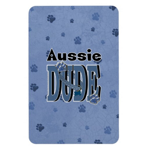 Aussie DUDE Rectangle Magnet