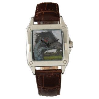 Aussie_Emu_Attraction_Ladies_Square_Leather_Watch Watches