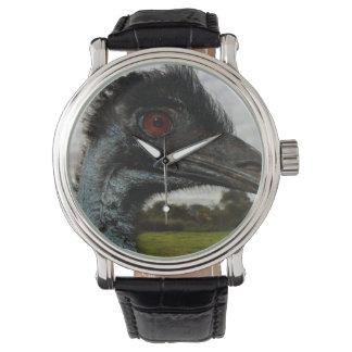 Aussie_Emu_Attraction,_Mens_Leather_Watch Wristwatch
