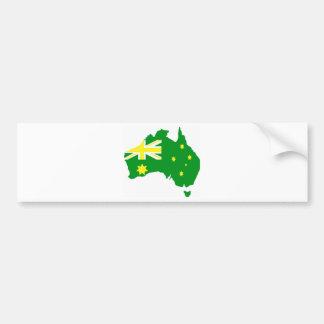 Aussie Flag Map Bumper Sticker