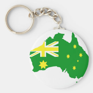 Aussie Flag Map Key Ring