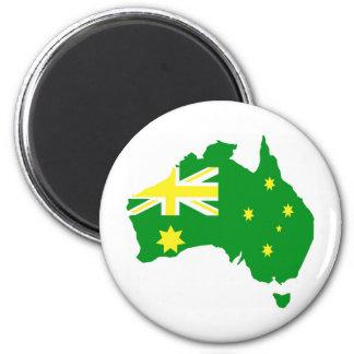 Aussie Flag Map Refrigerator Magnets
