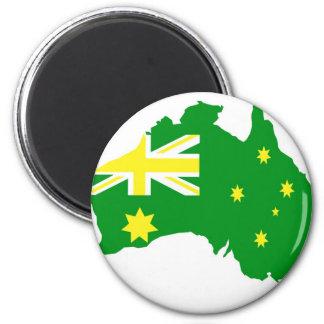 Aussie Flag Map Refrigerator Magnet