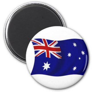Aussie flag refrigerator magnet