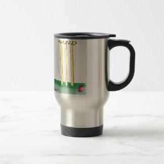 aussie golden cricket bails, tony fernandes stainless steel travel mug