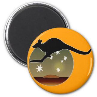 Aussie Kangaroo Icon Magnet