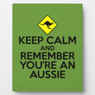 Aussie keep calm & carry on plaque