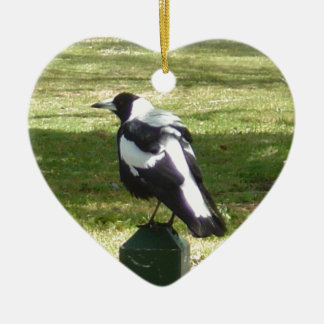 Aussie Magpie Christmas Ornament