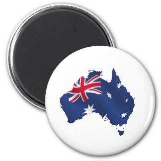 Aussie map flag refrigerator magnet