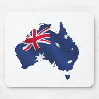 Aussie map flag mouse mat