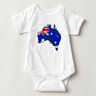 Aussie Map of Australia Oz flag gifts Baby Bodysuit