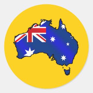 Aussie Map of Australia Oz flag gifts Stickers