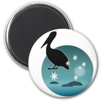 Aussie Pelican Icon 6 Cm Round Magnet