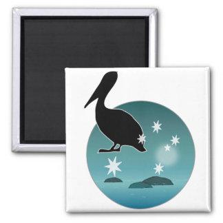 Aussie Pelican Icon Magnets