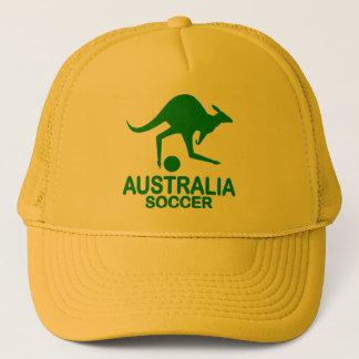 Aussie soccer green trucker hat
