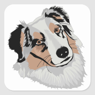 Aussie Square Sticker