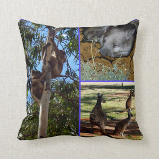 Aussie_Wild_Animals_Photo_Collage_Lounge_Cushion. Cushion